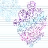 Hand-Drawn abstrakt Sketchy Swirlklotter Royaltyfri Fotografi