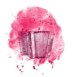 Hand drawn accordion Royalty Free Stock Photos