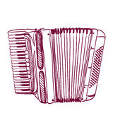 Hand drawn accordion Stock Photo