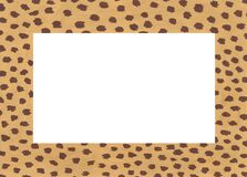 Hand drawn acrylic frame with cheetah spots stock illustration