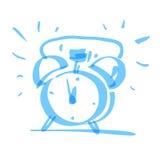 Hand drawn alarm clock, vector Stock Photography