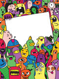 Hand drawn Aliens and Monsters cartoon doodle Stock Images