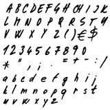Hand drawn alphabet. Set - illustration Royalty Free Stock Image
