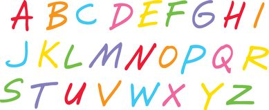 Hand Drawn Alphabet Stock Photo
