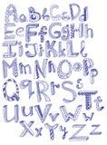 Hand drawn alphabet. Beautiful illustration stock illustration