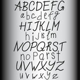 Hand drawn alphabet, ABS letters, vector Stock Photography