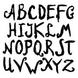 Hand Drawn Alphabet Black Stock Image