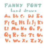 Hand drawn alphabet Stock Photos