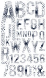 Hand drawn alphabet Royalty Free Stock Photo