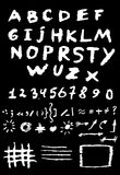 Hand drawn alphabet design, scratched style, horror style Royalty Free Stock Photo