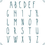 Hand drawn alphabet design. Stock Photography