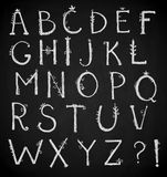 Hand drawn alphabet, doodle font, vector Royalty Free Stock Photography