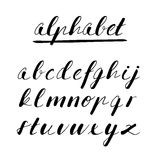Hand drawn  alphabet, font, isolated letters written with marker or ink Stock Images