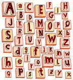 Hand drawn alphabet Stock Image