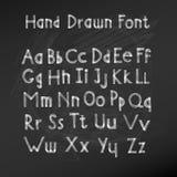 Hand drawn alphabet. Handwritten font. Vector Illustration Royalty Free Stock Photo