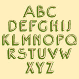Hand drawn alphabet Stock Photography