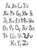 Hand drawn alphabet. Stock Photo