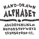 Hand Drawn Alphabet. Isolated on white Background. Clipping paths included in additional jpg format Stock Images