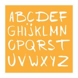 Hand drawn alphabet, latin characters set. Vector lettering for posters, banners or greeting cards.  vector illustration