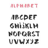 Hand drawn alphabet, latin characters set. Vector lettering for posters, banners or greeting cards. Isolated on white background.  vector illustration