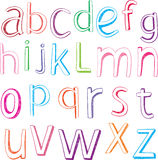 Hand drawn alphabet letters Stock Photo