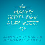 Hand-drawn alphabet letters, for birthday card Royalty Free Stock Images