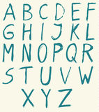 Hand drawn alphabet letters with brush. Stock Images