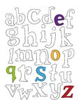 Hand drawn alphabet letters Royalty Free Stock Photography