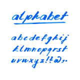Hand drawn  alphabet, marker or ink font. Hand drawn  alphabet, font, isolated letters written with marker or ink Royalty Free Stock Photography