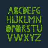 Hand drawn alphabet with organic texture Royalty Free Stock Photo