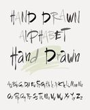 Hand drawn alphabet in retro style. ABC for your design. Letters of the alphabet written with a brush. Stock Photos