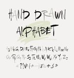Hand drawn alphabet in retro style. ABC for your design. Letters of the alphabet written with a brush. Easy to use and edit letters Royalty Free Stock Photography
