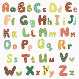 Hand drawn alphabet Stock Images