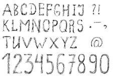 Hand drawn alphabet Royalty Free Stock Photo