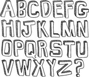 Hand Drawn Alphabet Royalty Free Stock Image