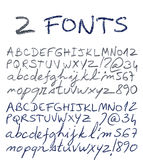 Hand drawn alphabet set. Royalty Free Stock Photos