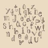 Hand drawn Alphabet set Stock Images