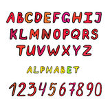 Hand drawn alphabet set Stock Image