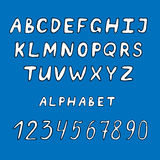 Hand drawn alphabet set Royalty Free Stock Images