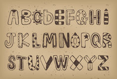 Hand drawn Alphabet set 01 Royalty Free Stock Photo