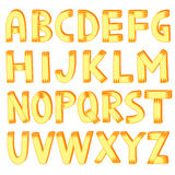 Hand drawn alphabet. Sketch letters Stock Image