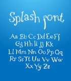 Hand drawn alphabet with splash Royalty Free Stock Images