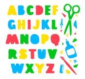 Hand drawn alphabet Stock Photography