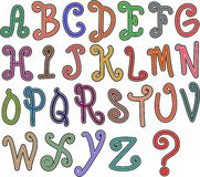 Hand Drawn Alphabet Text Royalty Free Stock Photography
