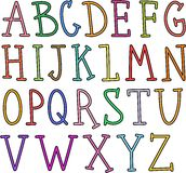 Hand Drawn Alphabet Text Royalty Free Stock Images