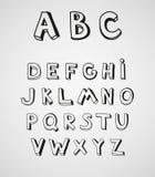 Hand drawn alphabet. Royalty Free Stock Image