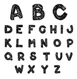 Hand drawn alphabet Vector Royalty Free Stock Images