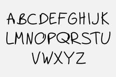 Hand drawn alphabet Stock Photo