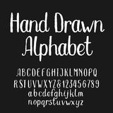 Hand drawn alphabet vector font Stock Images