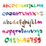 Hand drawn alphabet in Vector Format. Color can be changed by on Stock Image
